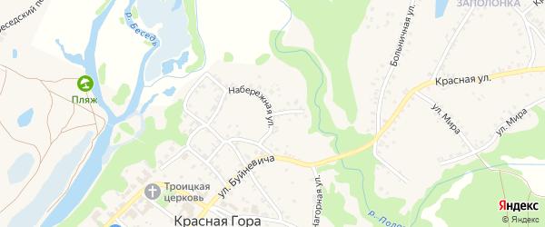 Речная улица на карте поселка Красной Горы с номерами домов