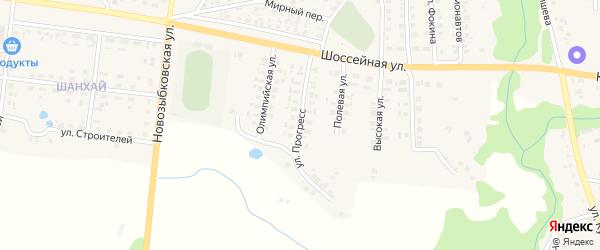 Улица Прогресс на карте поселка Красной Горы с номерами домов
