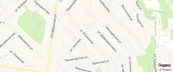 Улица Ромашина на карте поселка Красной Горы с номерами домов