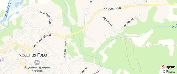 Заполонский переулок на карте поселка Красной Горы с номерами домов