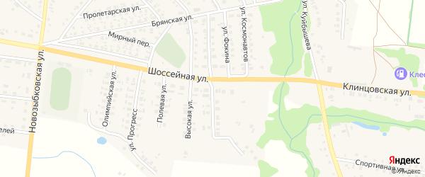 Безымянная улица на карте поселка Красной Горы с номерами домов