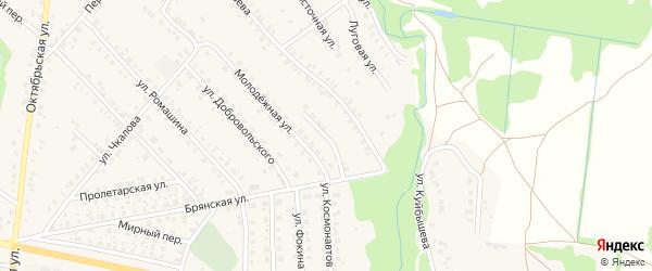 Тупиковый переулок на карте поселка Красной Горы с номерами домов