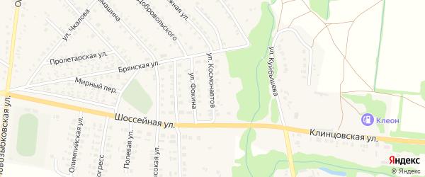 Улица Космонавтов на карте поселка Красной Горы с номерами домов