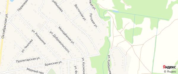 Улица Куйбышева на карте поселка Красной Горы с номерами домов
