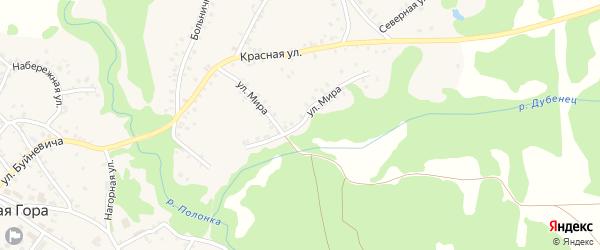 Улица Мира на карте поселка Красной Горы с номерами домов