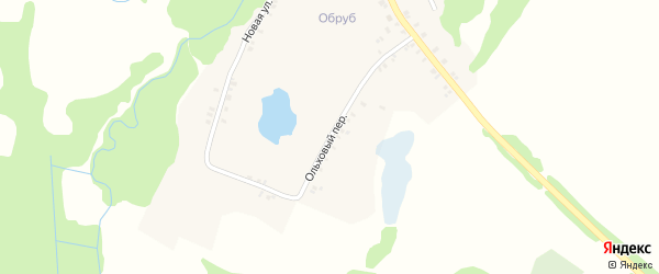 Ольховый переулок на карте поселка Красной Горы с номерами домов