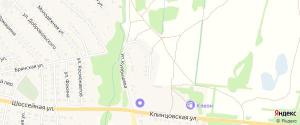 Улица Автомобилистов на карте поселка Красной Горы с номерами домов