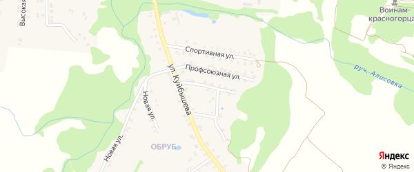 Улица 8 Марта на карте поселка Красной Горы с номерами домов