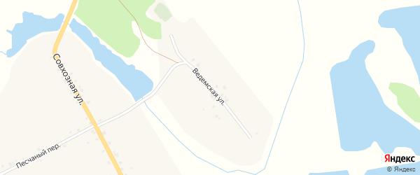 Ведемская улица на карте села Городечни с номерами домов