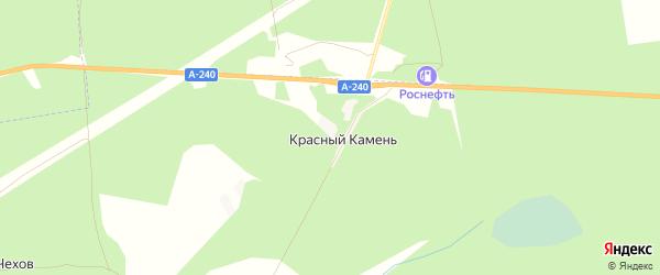 Карта поселка Красного Камня в Брянской области с улицами и номерами домов