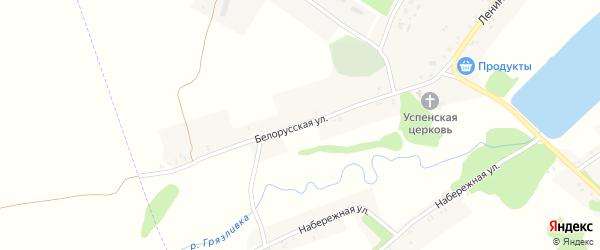 Белорусская улица на карте села Лысые с номерами домов