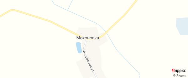 Центральная улица на карте поселка Махоновки с номерами домов