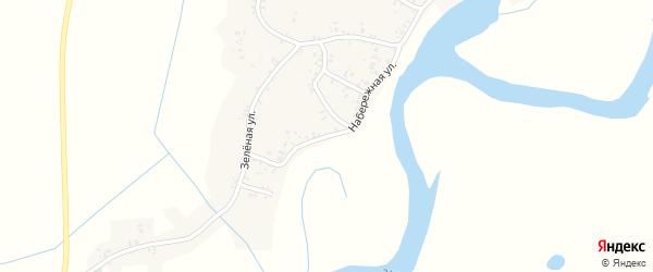 Набережная улица на карте деревни Макаричей с номерами домов