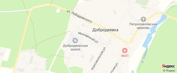 Молодежная улица на карте села Добродеевки с номерами домов