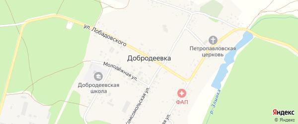 Улица Лобадовского на карте села Добродеевки с номерами домов