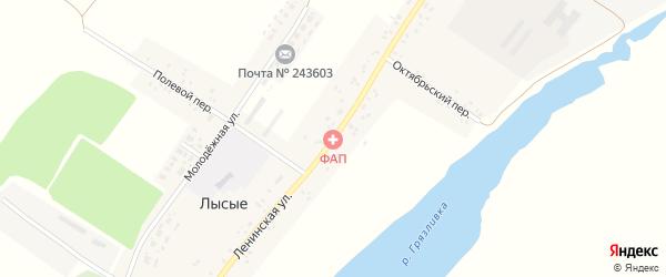 Ленинская улица на карте села Лысые с номерами домов