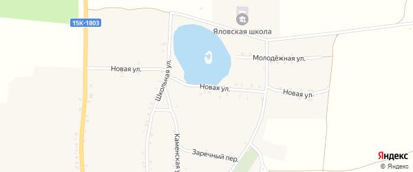 Новая улица на карте села Яловки с номерами домов