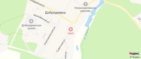 Советская улица на карте села Добродеевки с номерами домов
