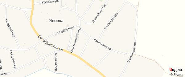 Каменская улица на карте поселка Каменки с номерами домов