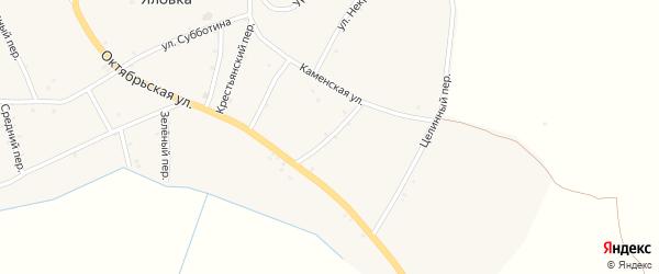Кузнечный переулок на карте села Яловки с номерами домов