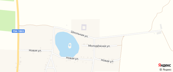 Школьная улица на карте села Яловки с номерами домов