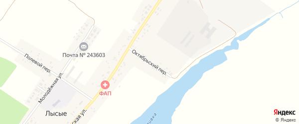 Октябрьский переулок на карте села Лысые с номерами домов