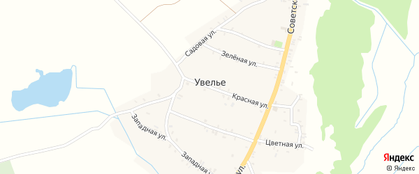 Набережная улица на карте села Увелье с номерами домов