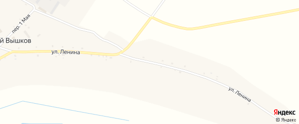 Улица Ленина на карте села Старого Вышкова с номерами домов
