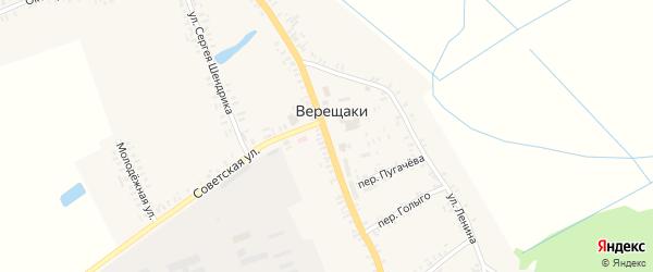 Коммунистическая улица на карте села Верещаки с номерами домов