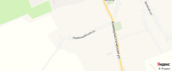 Первомайская улица на карте села Верещаки с номерами домов