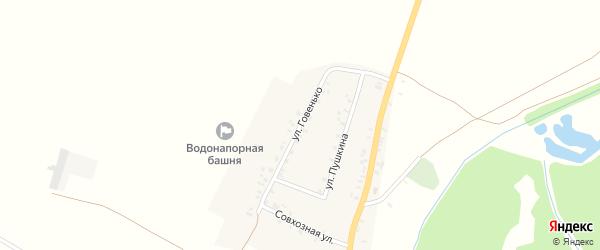 Улица Говенько на карте села Увелье с номерами домов