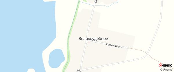 Октябрьская улица на карте Великоудебного села с номерами домов