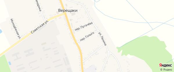 Переулок Голыго на карте села Верещаки с номерами домов