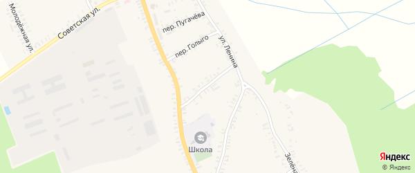 Комсомольский переулок на карте села Верещаки с номерами домов