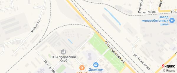 Территория гк N2 по ул. Глеба Успенского на карте Чудово с номерами домов