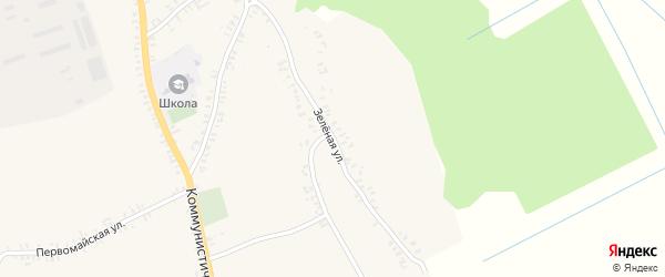 Зеленая улица на карте села Верещаки с номерами домов