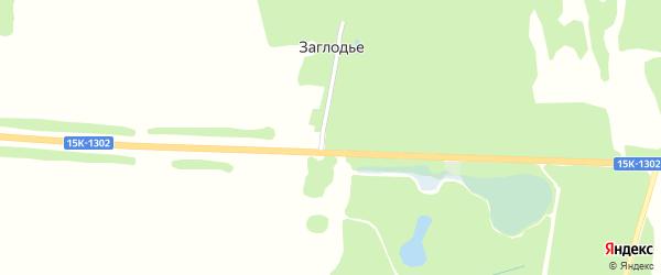 Центральная улица на карте поселка Заглодья с номерами домов