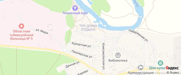 Территория Дома отдыха на карте поселка Вышкова с номерами домов
