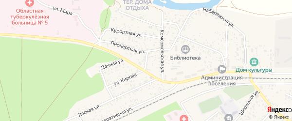 Базарный переулок на карте поселка Вышкова с номерами домов