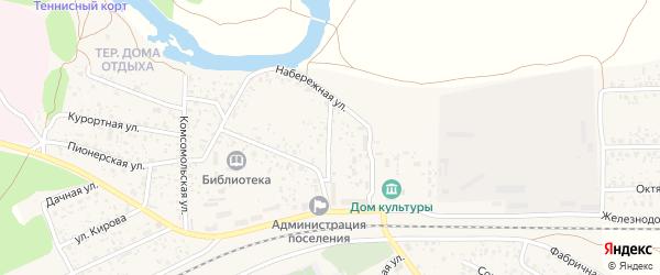 Набережный переулок на карте поселка Вышкова с номерами домов