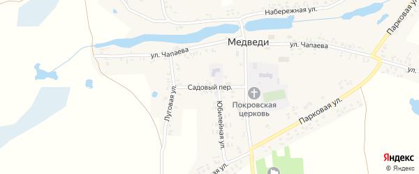 Садовый переулок на карте села Медведи с номерами домов