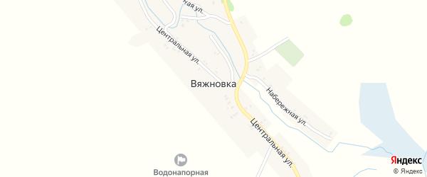 Садовый переулок на карте деревни Вяжновки с номерами домов