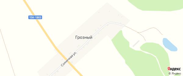 Солнечная улица на карте Грозного поселка с номерами домов