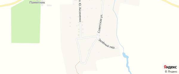 Садовый переулок на карте деревни Сельца с номерами домов