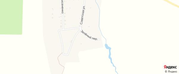 Зеленый переулок на карте деревни Сельца с номерами домов