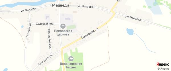 Парковая улица на карте села Медведи с номерами домов