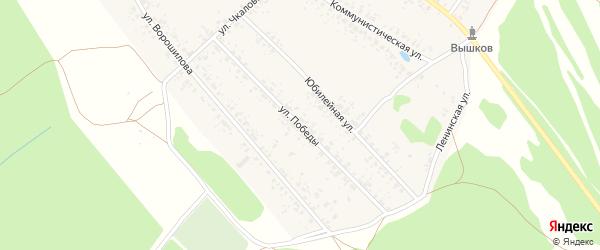 Улица 70-летия Победы на карте Злынки с номерами домов