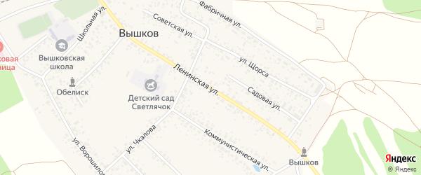 Ленинская улица на карте поселка Вышкова с номерами домов