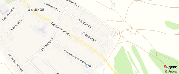 Садовая улица на карте поселка Вышкова с номерами домов