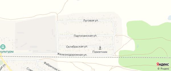 Партизанская улица на карте поселка Вышкова с номерами домов